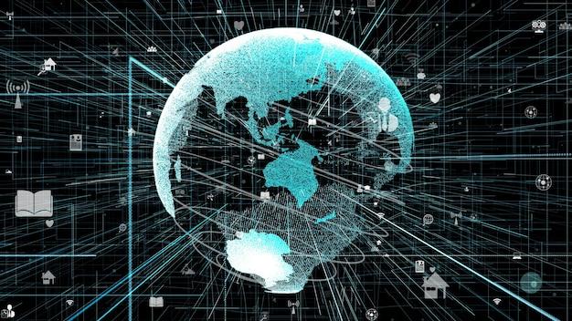 3d иллюстрации концепции глобальной сети интернет онлайн