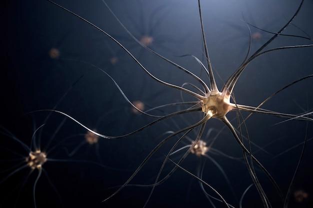 Иллюстрация 3d нервных клеток человека