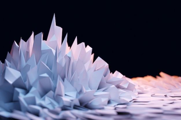 Ilghtクリスタル、反射と屈折の光の効果の3dイラスト。背景のオーバーレイパターン。
