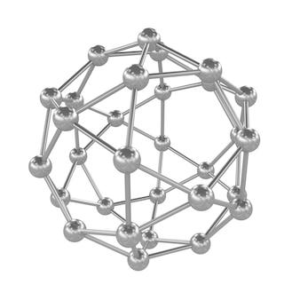 분자 격자의 3d 그림