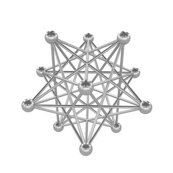分子格子の3dイラスト