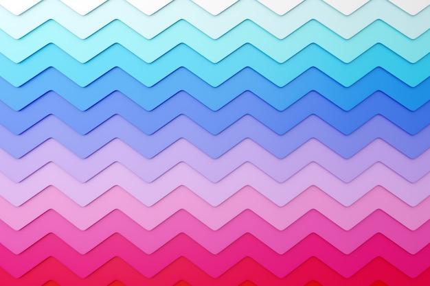 パターンの装飾的な印刷、パターンからのピンク、青、白の幾何学模様の3 dイラストレーション。三角形の3dプリント