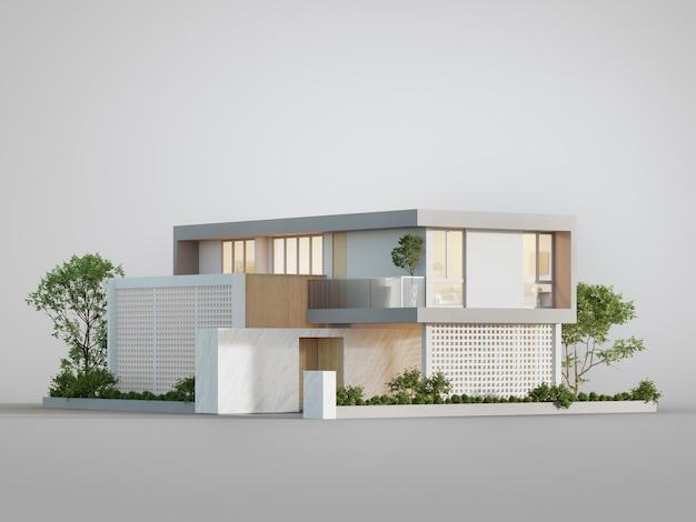 住宅の外観の3dイラスト