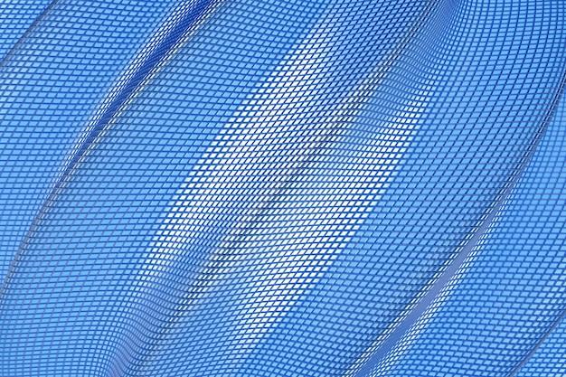 3d иллюстрации рядов синей металлической спирали