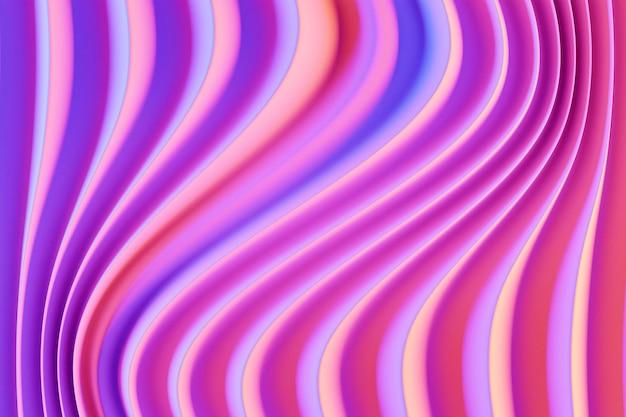 3d иллюстрации рядов розовый портал