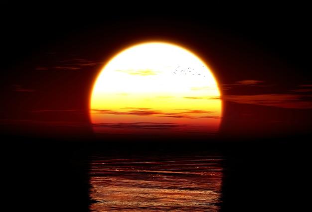 3d иллюстрации заката