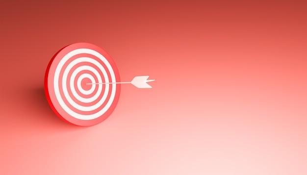 3d иллюстрации цели со стрелой, пораженной в центре