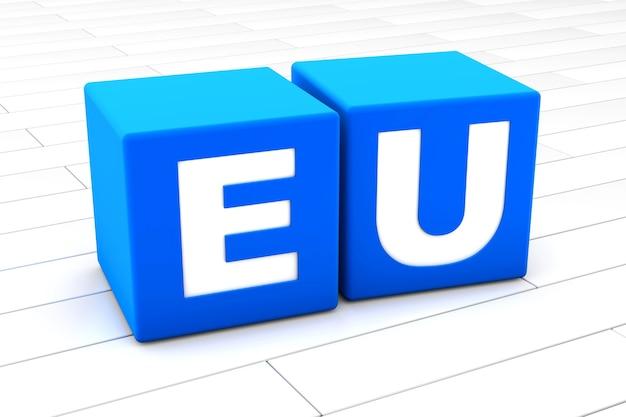 略語euの3 dイラストレーション