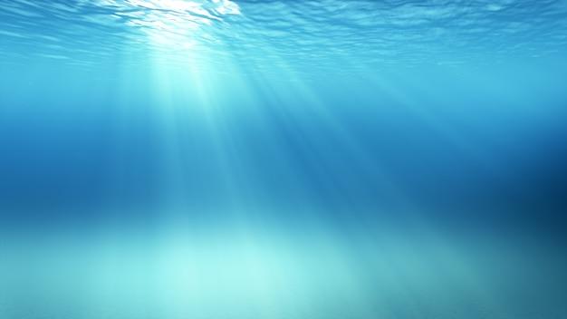 햇빛과 수중 장면의 3d 일러스트