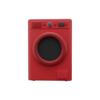 洗濯機の3dイラスト。隔離された洗濯機3dイラスト