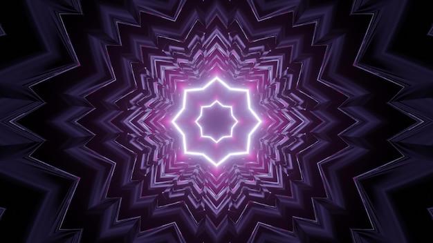 3d illustration of ornamental purple tunnel