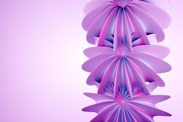 3d иллюстрации шаблон фэнтези цветы на строке на розовом фоне изолированных.