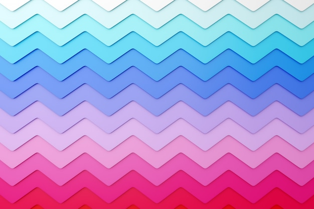 3d illustration of pink, blue  and white geometric pattern from a pattern decorative print, pattern. triangular 3d printing