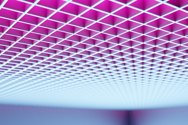 3d illustration pink  pattern, cell in geometric ornamental style from stripes Premium Photo