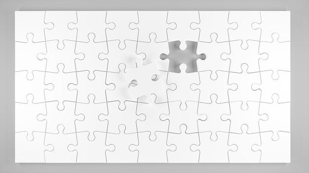 3d иллюстрации. кусочки головоломки, изолированные на белом фоне. 3d визуализация