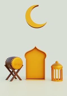 3d иллюстрации рамадан портрет
