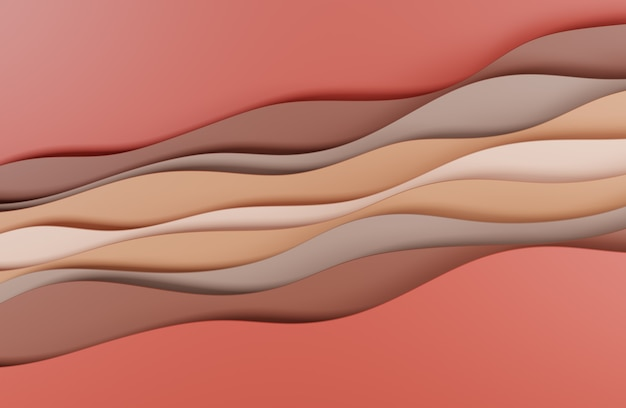 3d illustration red brown abstract art style design for website backgrounds or advertising