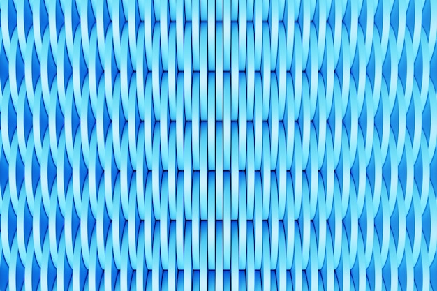 3d illustration of rows of blue  round,  polygones.set of shapes on monocrome background, pattern. geometry  background