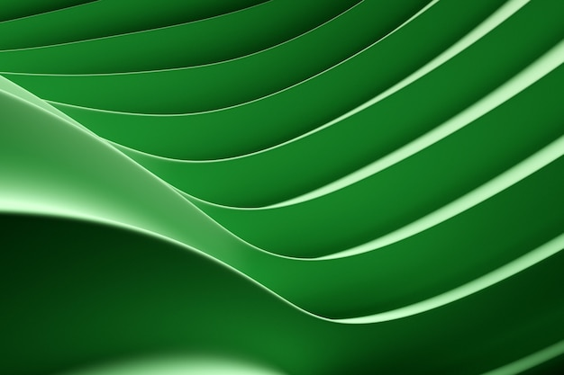 3d illustration  rows of neon  textile line  . patter on a green  background, pattern. geometric background, weave pattern.