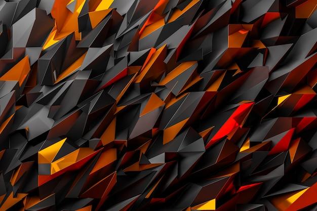 銀と青銅の金属結晶の3dイラスト行。モノクロの背景、パターンのパターン。幾何学的な背景、織りパターン。シルバークリスタル