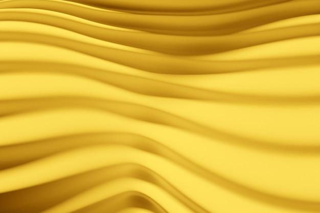 黄色い線の3dイラスト行。幾何学的な背景、織りパターン。