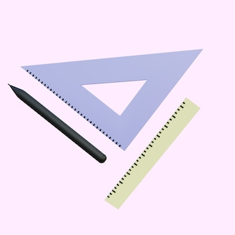3dイラスト定規とペン
