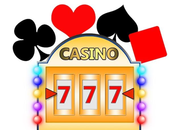 3d иллюстрации. игровой автомат. концепция казино. изолированный белый фон