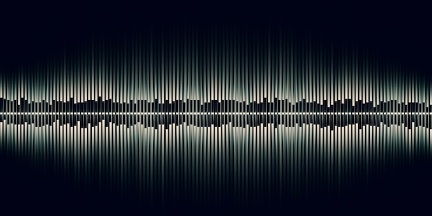 3d illustration sound wave abstract music pulse sound wave graph of frequency and spectrum separately on black