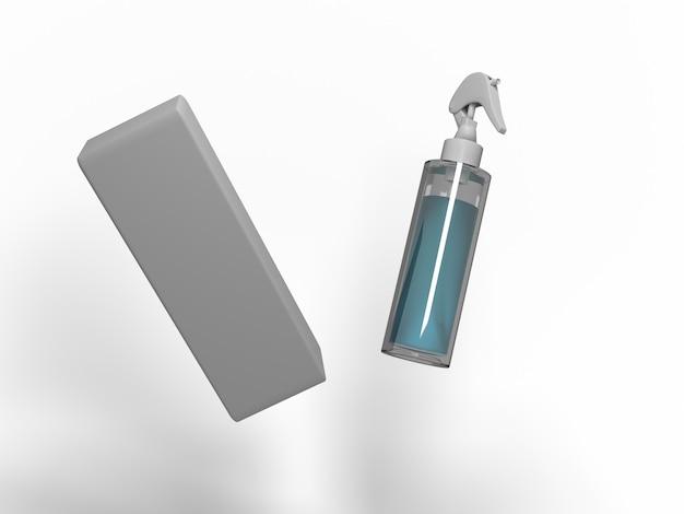 3dイラスト。さまざまな用途のための噴霧器。サンプルデザインのモックアップ。