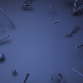 3d иллюстрации. квадратный баннер с абстрактными частицами. Premium Фотографии