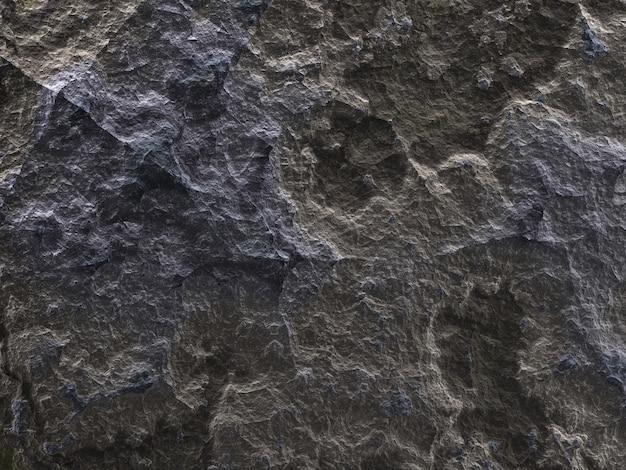 3d 그림, 거친 발견 돌의 질감, 회색 갈색 화강암 표면
