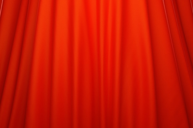 3d illustration of the texture of a red natural fabric with folds. abstract background from natural beautiful fabric close-up. red curtains, stage curtain