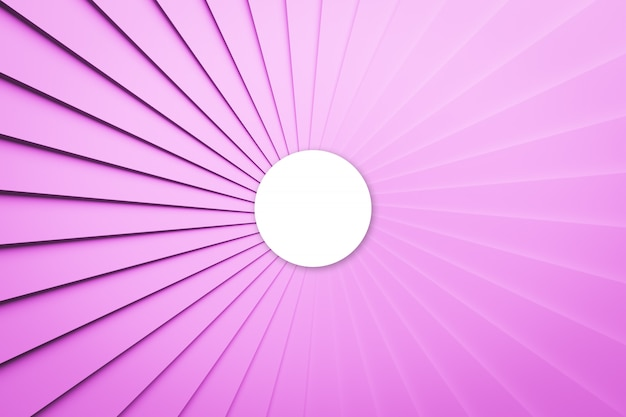 3d illustration volumetric pink and white ball  on a geometric monophonic background. parallelogram pattern. technology geometry neon background