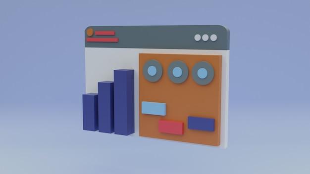 3d 그림 웹 다이어그램 그래픽