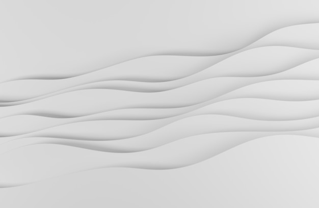 3d illustration white abstract art style design for website backgrounds or advertising
