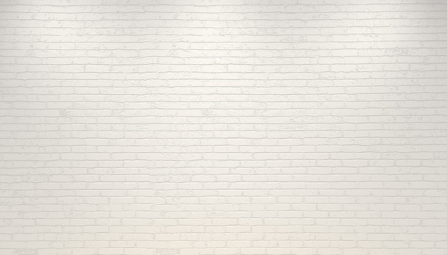 3d 그림. 흰색 오래 된 배경 벽돌 벽입니다. 브랜드 또는 로고를 위해 벽을 모의합니다.
