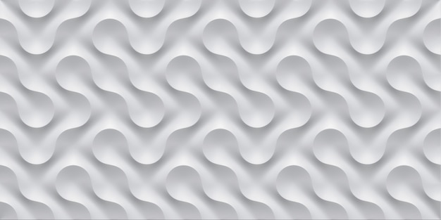 3d illustration white seamless pattern waves light and shadow