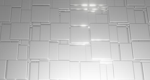 Трехмерная иллюстрация с плоскими квадратами и изогнутыми углами, сложенными сложными слоями