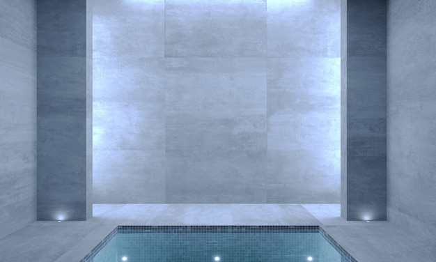 3d illustrations. interior of a modern pool.