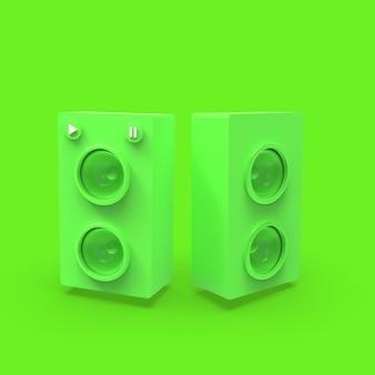 3d illustraton speaker music minimalism concept