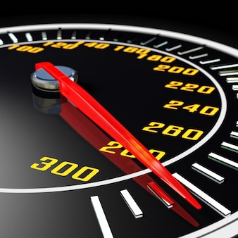 3d image of speedometer