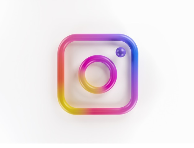 3d логотип приложения instagram фон