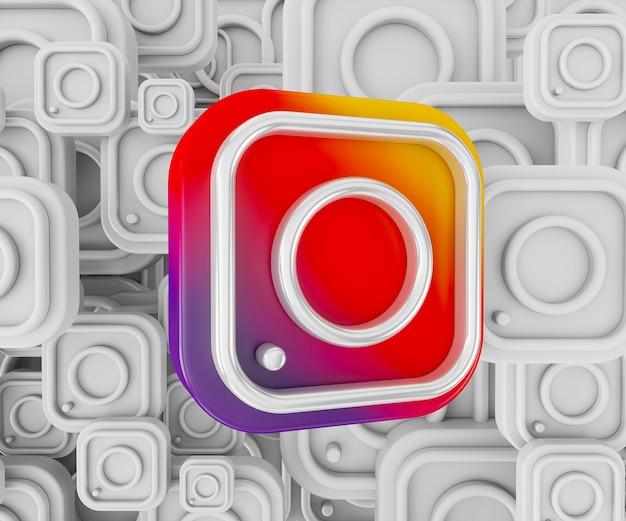 3d instagram logo