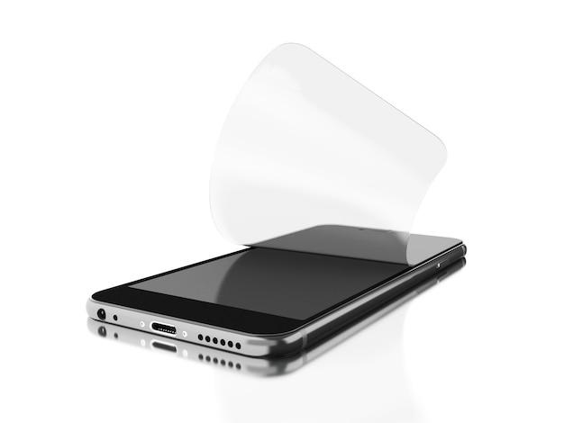 3d установка защитной пленки на смартфоне