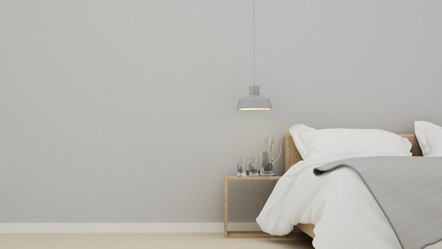 Premium Photo The 3d Interior Bedroom Design Interior Minimal Space In Apartment And Dark Color 3d Ren