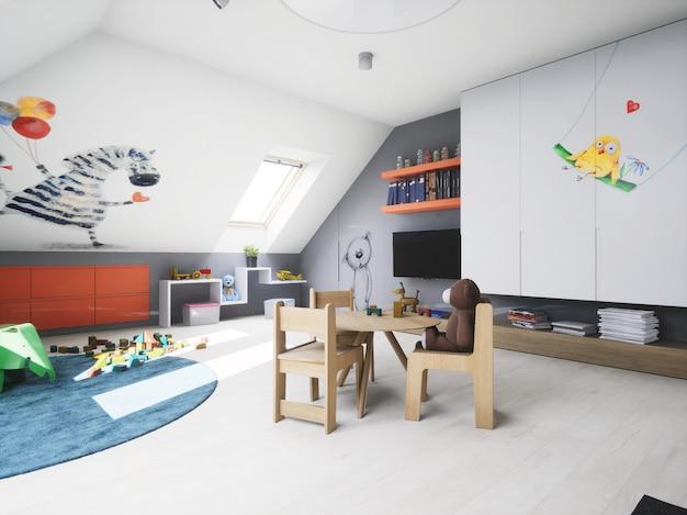 3d дизайн интерьера baby boy room