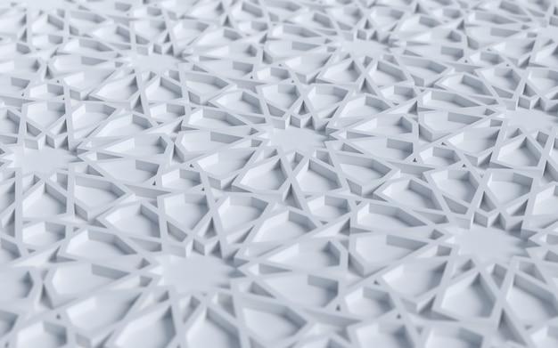 3dイスラム背景シーン装飾装飾幾何学的な星