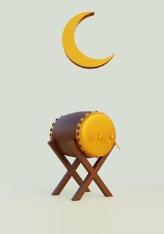 3d иллюстрации исламский барабан