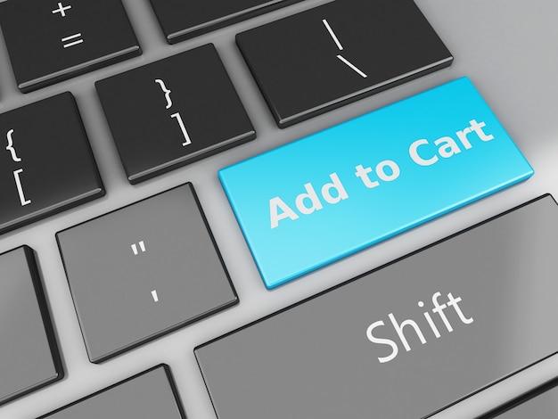 3d клавиатура с кнопкой «добавить в корзину»