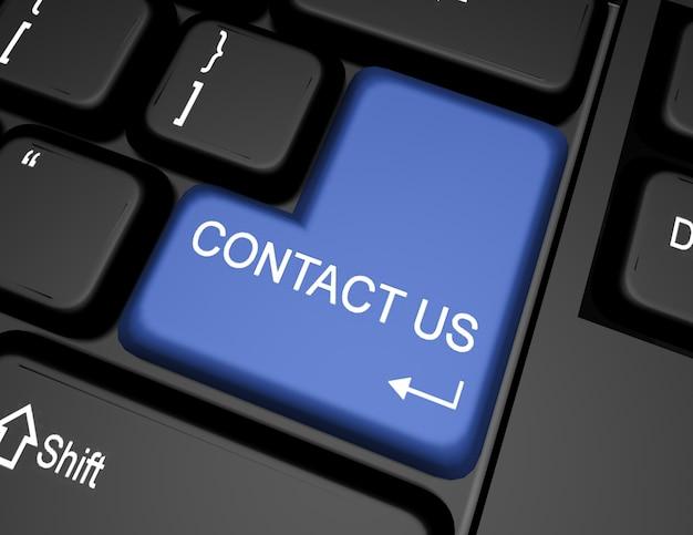 3d-клавиатура с кнопкой «свяжитесь с нами»